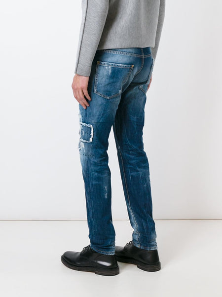 DSQUARED2  Ripped Patch Cool Guy Jean - 4