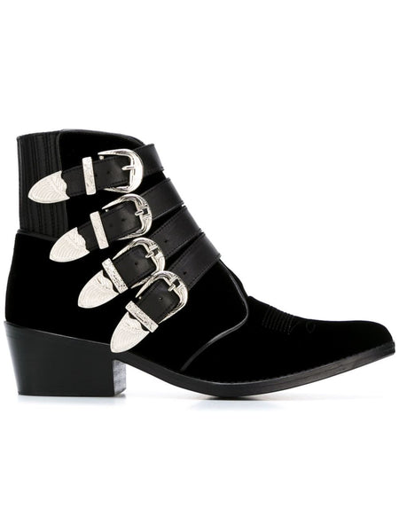TOGA PULLA  Limited Edition Velvet Ankle Boot - 1