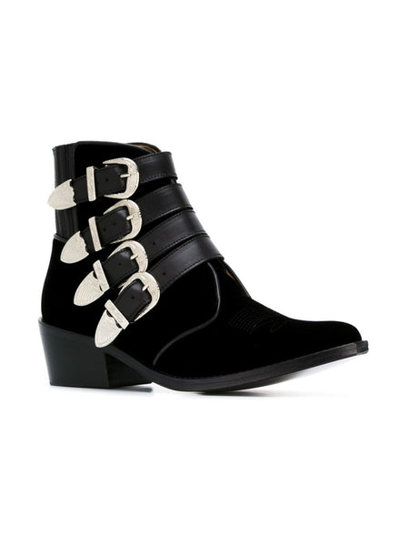 TOGA PULLA  Limited Edition Velvet Ankle Boot - 2
