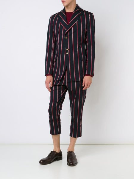VIVIENNE WESTWOOD MAN  Striped Cropped Trousers - 2