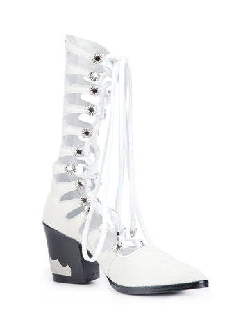 Calf Hair Gladiator Boot