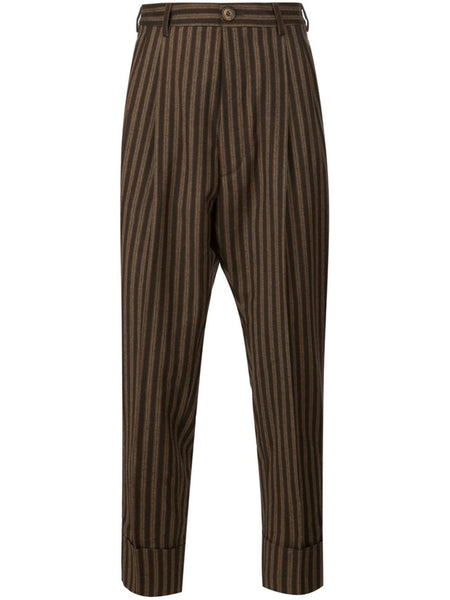 VIVIENNE WESTWOOD MAN  Striped Cuffed Trouser - 1