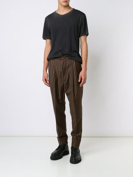 VIVIENNE WESTWOOD MAN  Striped Cuffed Trouser - 2