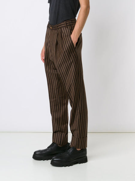VIVIENNE WESTWOOD MAN  Striped Cuffed Trouser - 3