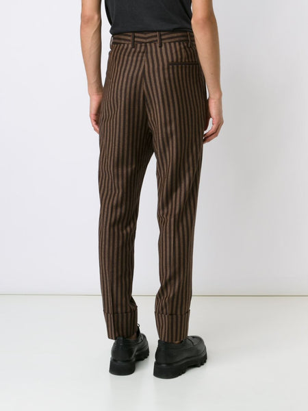 VIVIENNE WESTWOOD MAN  Striped Cuffed Trouser - 4