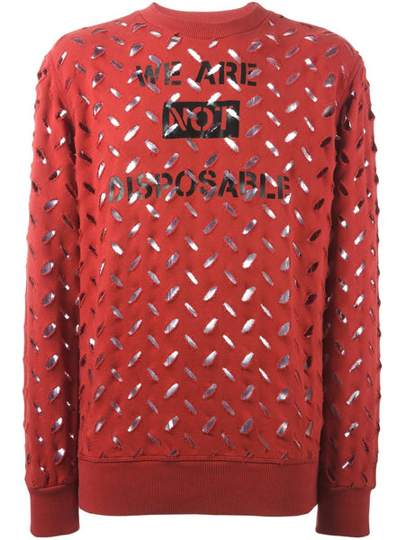 VIVIENNE WESTWOOD ANGLOMANIA  We Are Not Disposable Sweater - 1