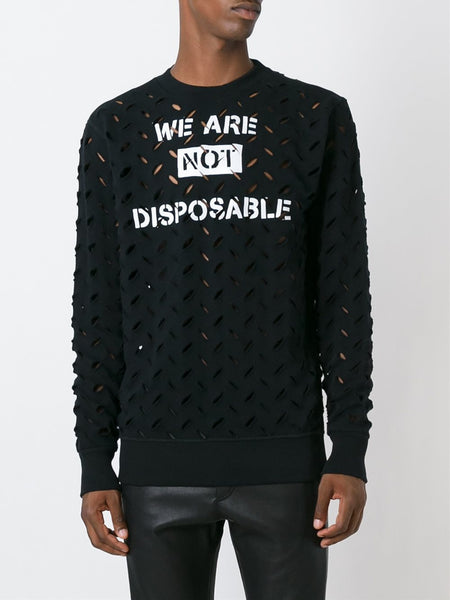 VIVIENNE WESTWOOD ANGLOMANIA  We Are Not Disposable Sweater - 2