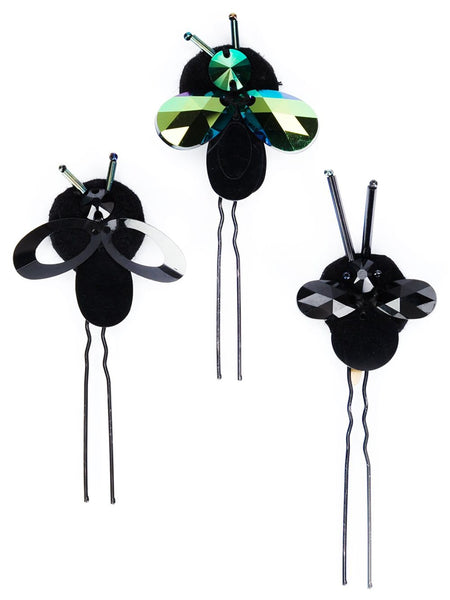 PIERS ATKINSON  Crystal Bug Hairpins - 1