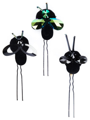 Crystal Bug Hairpins