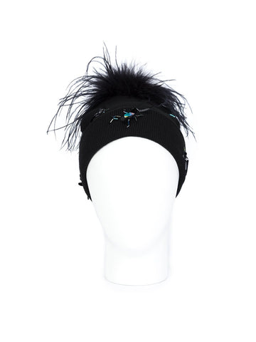 Crystal Bugs Feather Beanie