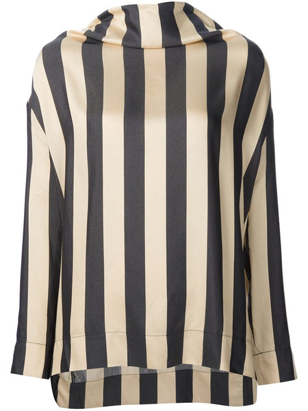 VIVIENNE WESTWOOD ANGLOMANIA  Striped Fold Blouse - 1