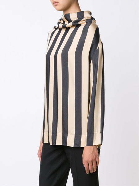 VIVIENNE WESTWOOD ANGLOMANIA  Striped Fold Blouse - 3