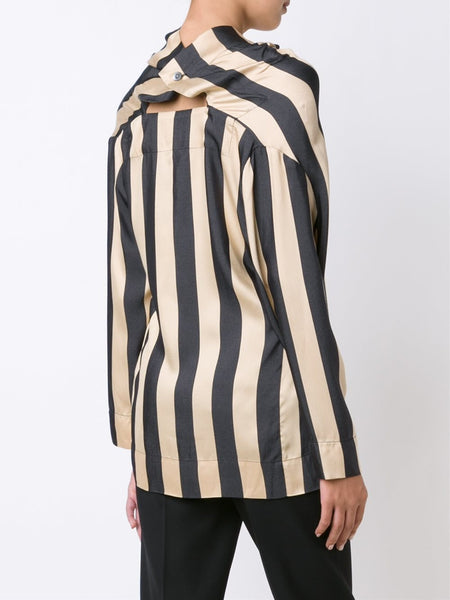 VIVIENNE WESTWOOD ANGLOMANIA  Striped Fold Blouse - 4