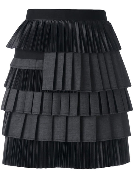 DSQUARED2  Layered Pleated Skirt - 1