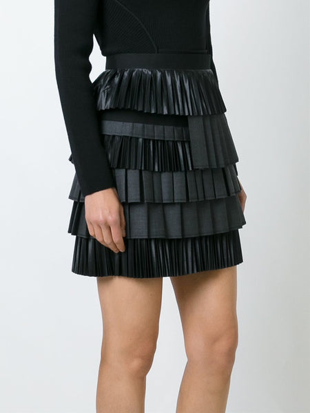 DSQUARED2  Layered Pleated Skirt - 3