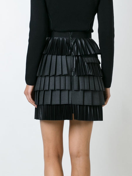 DSQUARED2  Layered Pleated Skirt - 4