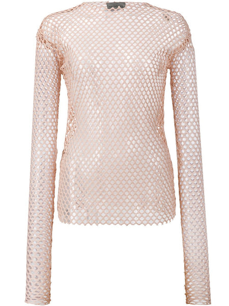 LES ANIMAUX  Stretch Mesh Top - 1
