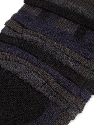 Tucked Jacquard Arm Warmers