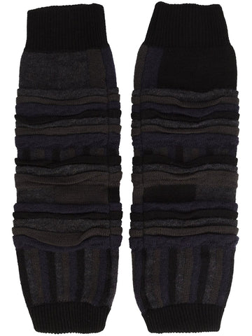 Tucked Jacquard Leg Warmers