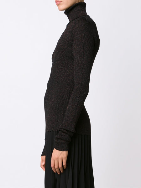 MARIOS  Shimmery Ribbed Turtleneck Sweater - 3