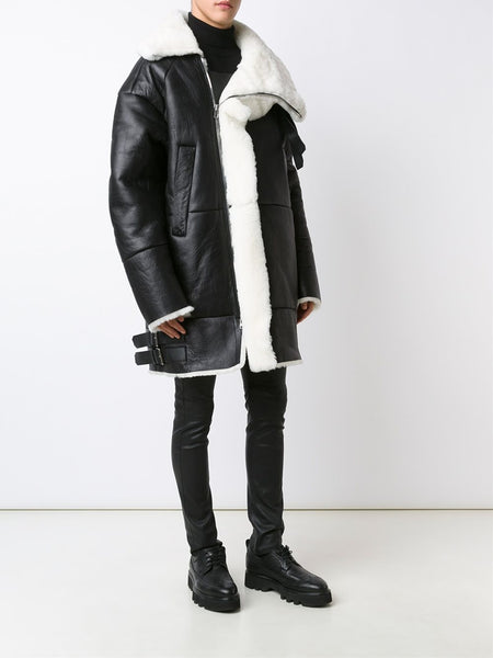 JUUN.J  Shearling Coat - 2