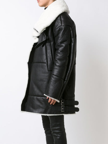 JUUN.J  Shearling Coat - 3