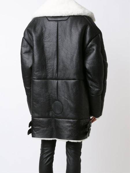 JUUN.J  Shearling Coat - 4