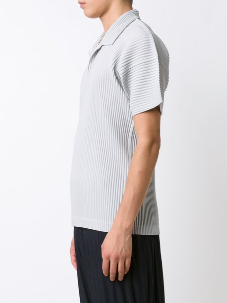 HOMME PLISSÉ  Pleated Polo T-Shirt - 3