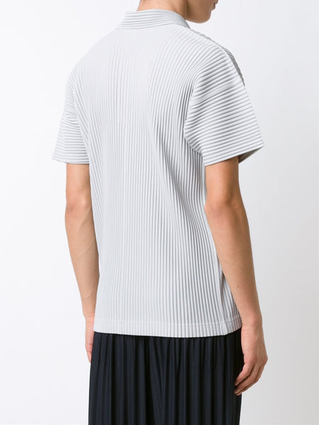 HOMME PLISSÉ  Pleated Polo T-Shirt - 4