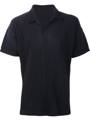 Pleated Polo T-Shirt