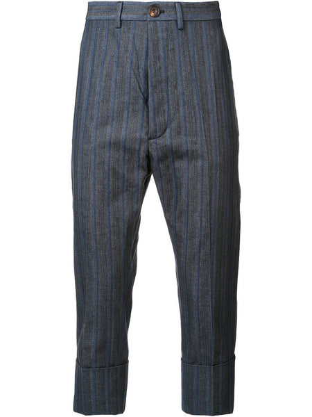 VIVIENNE WESTWOOD MAN  Striped Cropped Trouser - 1
