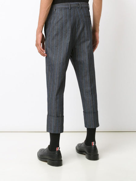 VIVIENNE WESTWOOD MAN  Striped Cropped Trouser - 4