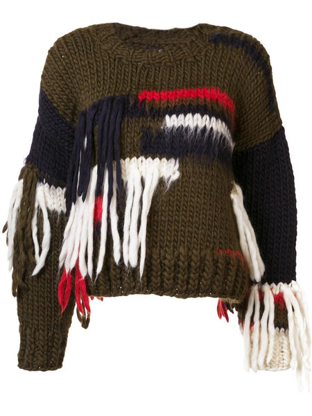 CHRISTOPHER RAEBURN  x The Woolmark Company Hand Knit Sweater - 1