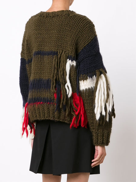 CHRISTOPHER RAEBURN  x The Woolmark Company Hand Knit Sweater - 4