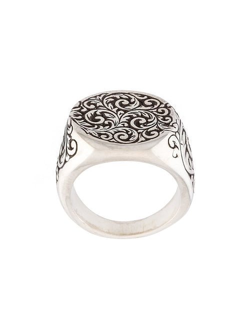 HENSON  Engraved Round Signet Ring - 1