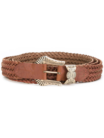 Braided Double Tongue Belt