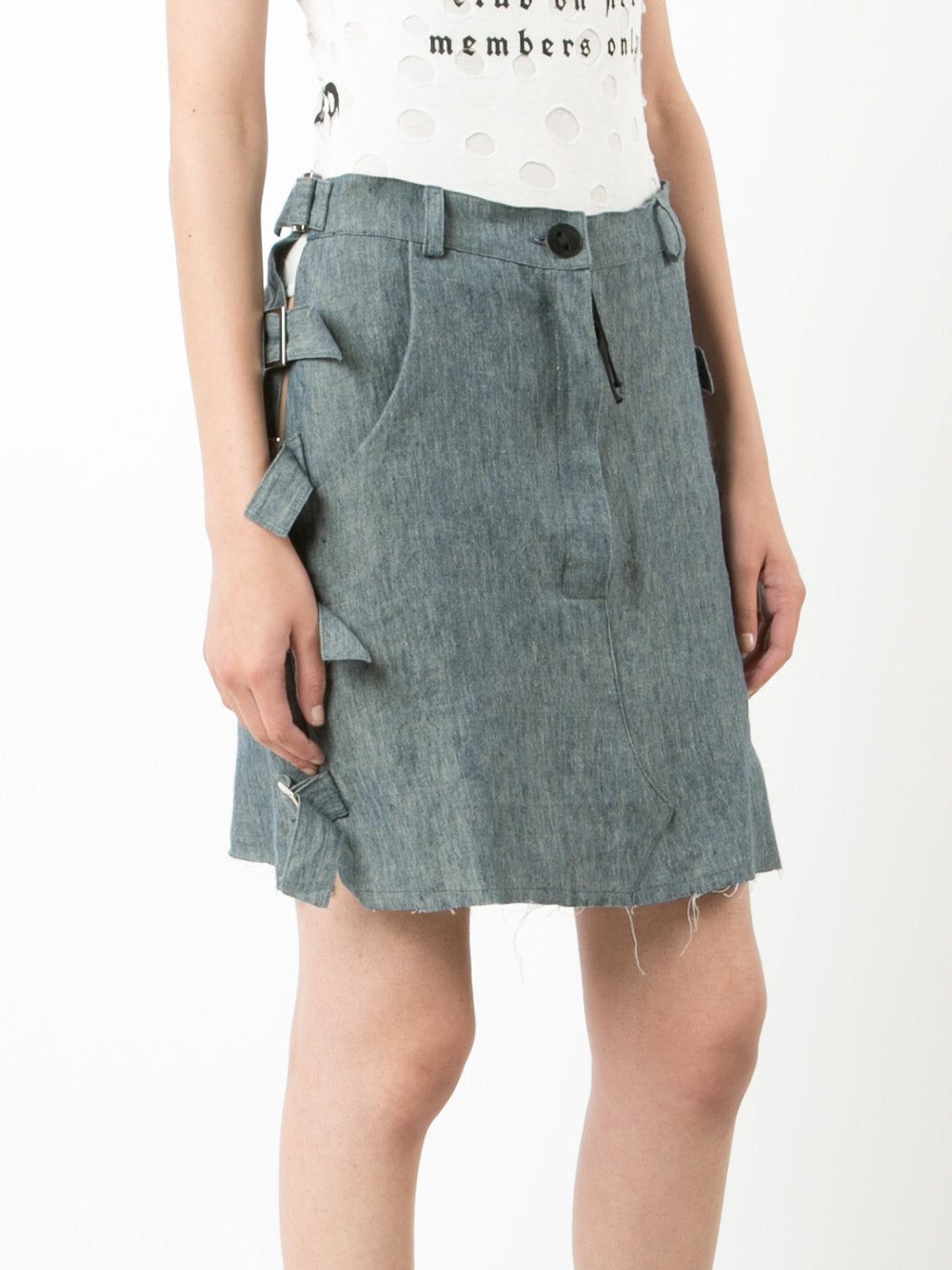 Sectioned Mini Skirt