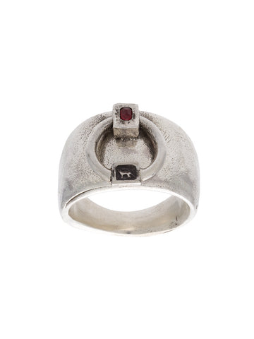 Ruby Door Knocker Ring