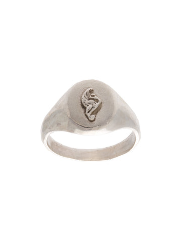 Lion Crest Pinky Signet Ring