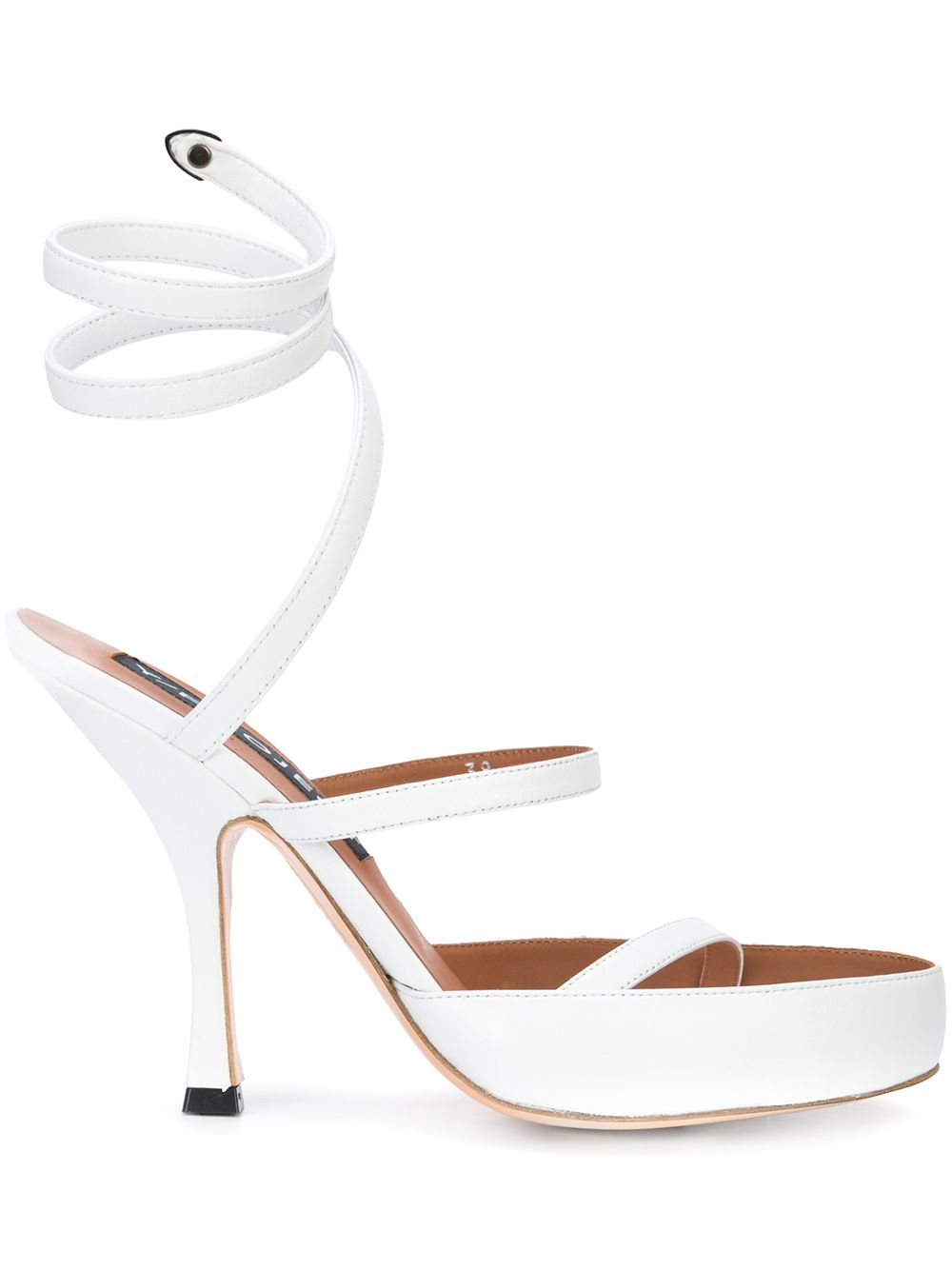 Y/Project White Spiral Sandals - 1