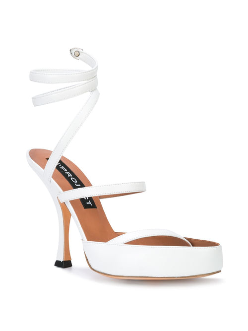 Y/Project White Spiral Sandals - 2