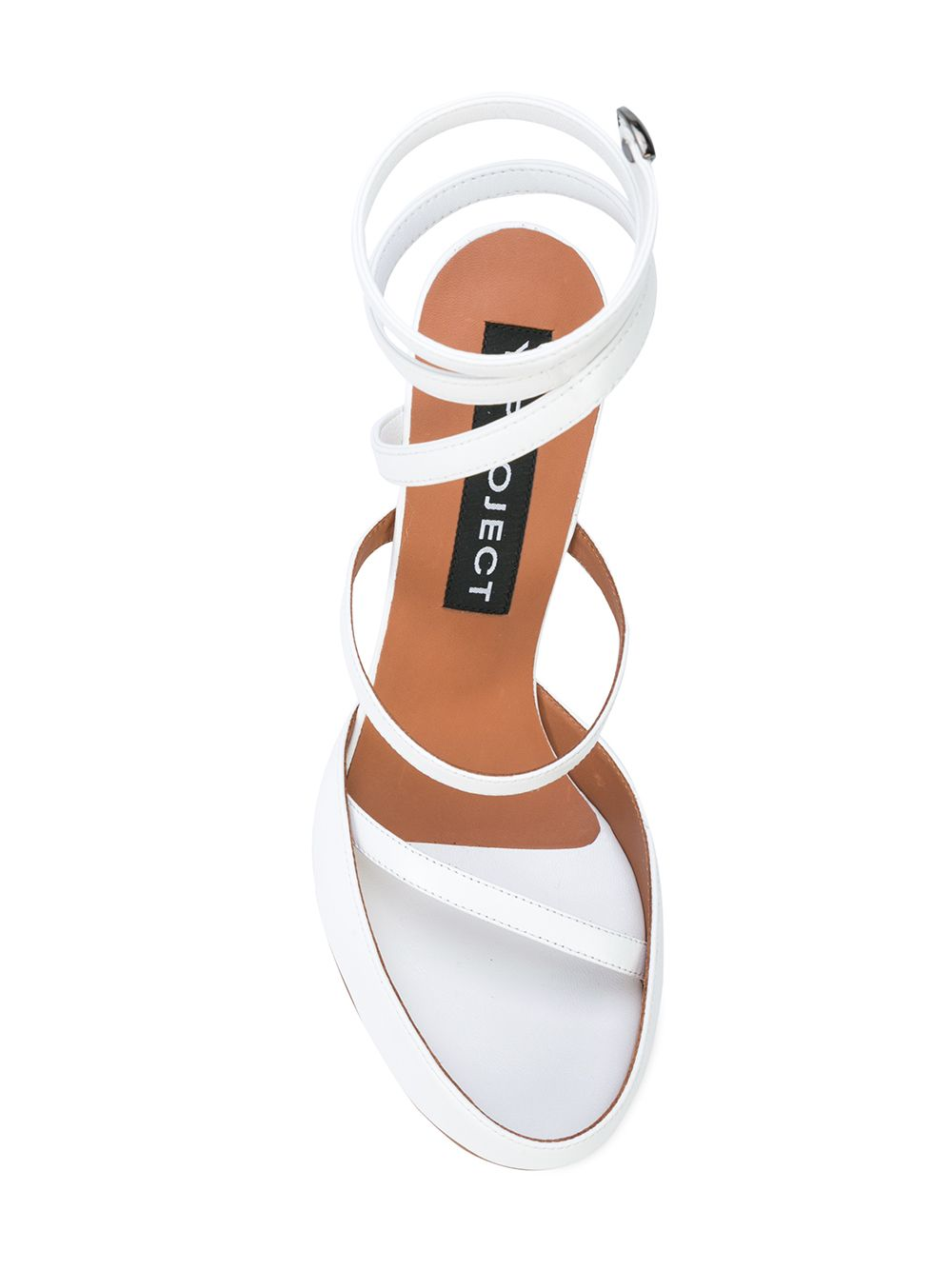 Y/Project White Spiral Sandals - 4