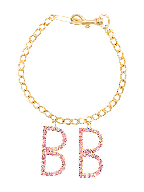 Barbara Bologna Gold Pink Crystal Brave Necklace - 1