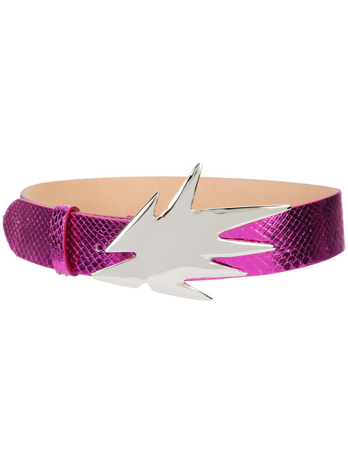 Dilara Findikoglu odd92 exclusive Fuchsia Snakeskin Shock Belt - 1
