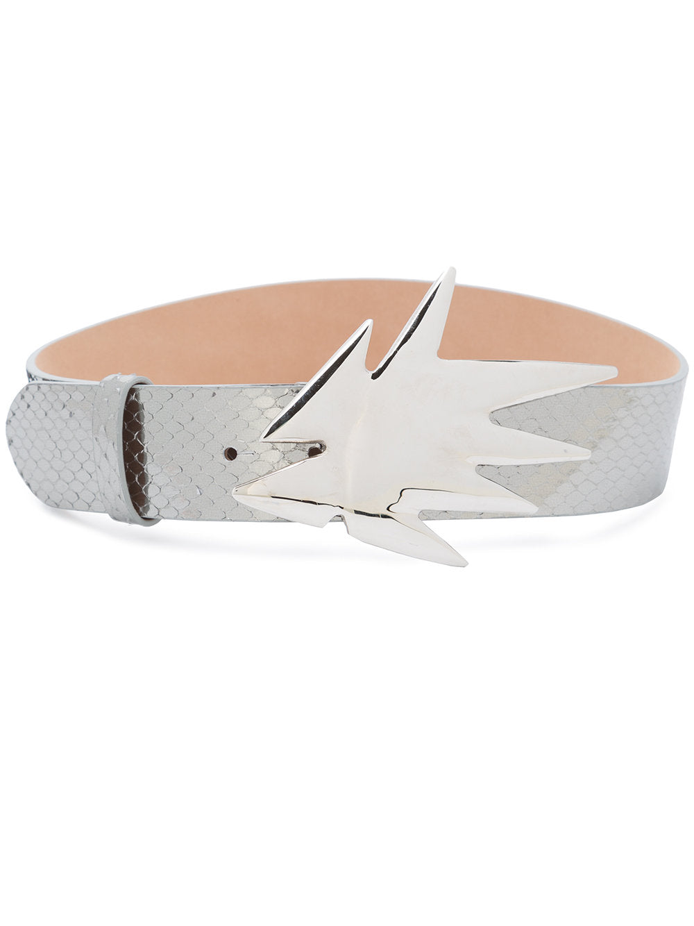 Dilara Findikoglu odd92 exclusive Silver Snakeskin Shock Belt - 1