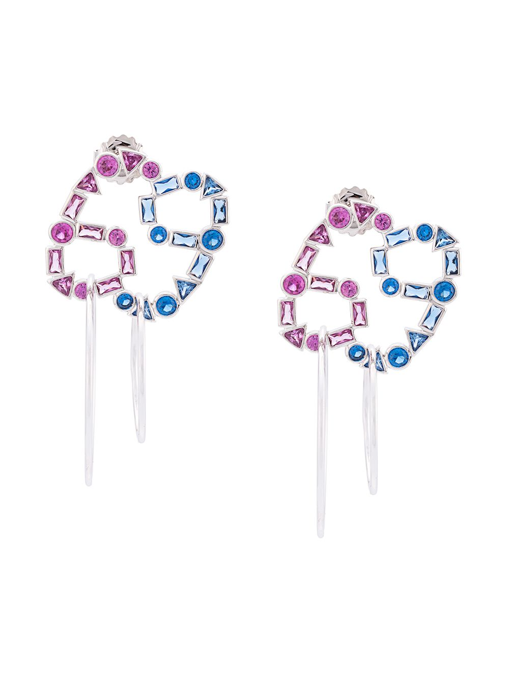 JIWINAIA Crystal 69 Hoop Earrings - 1