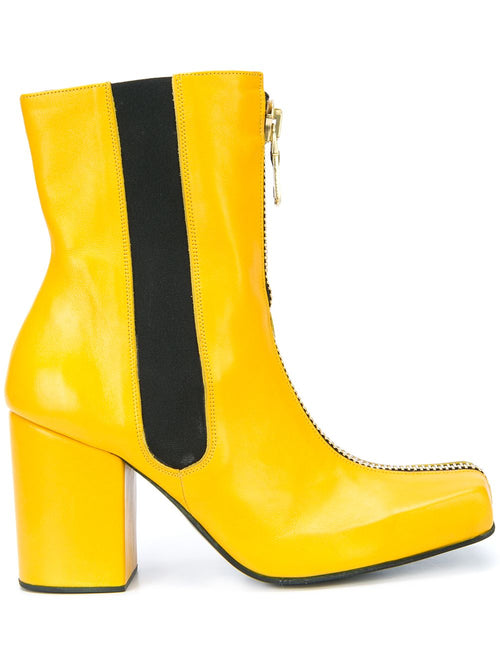 Charles Jeffrey Loverboy x Roker Atelier Yellow Zipped Jasc Boots - 1