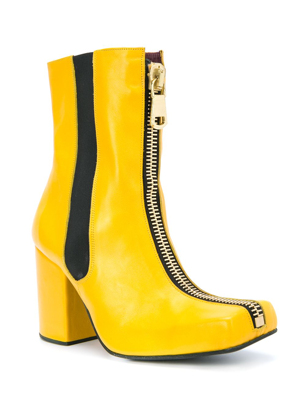 Charles Jeffrey Loverboy x Roker Atelier Yellow Zipped Jasc Boots - 2