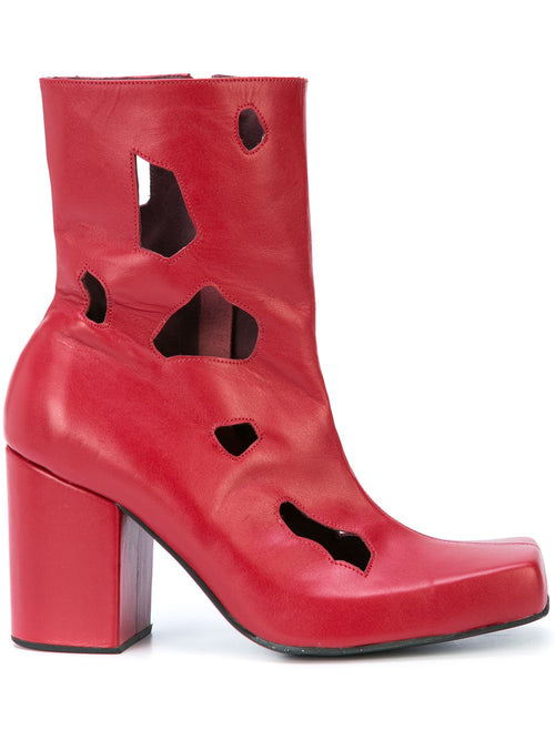 Charles Jeffrey Loverboy Red Holes Jasc Boots - 1