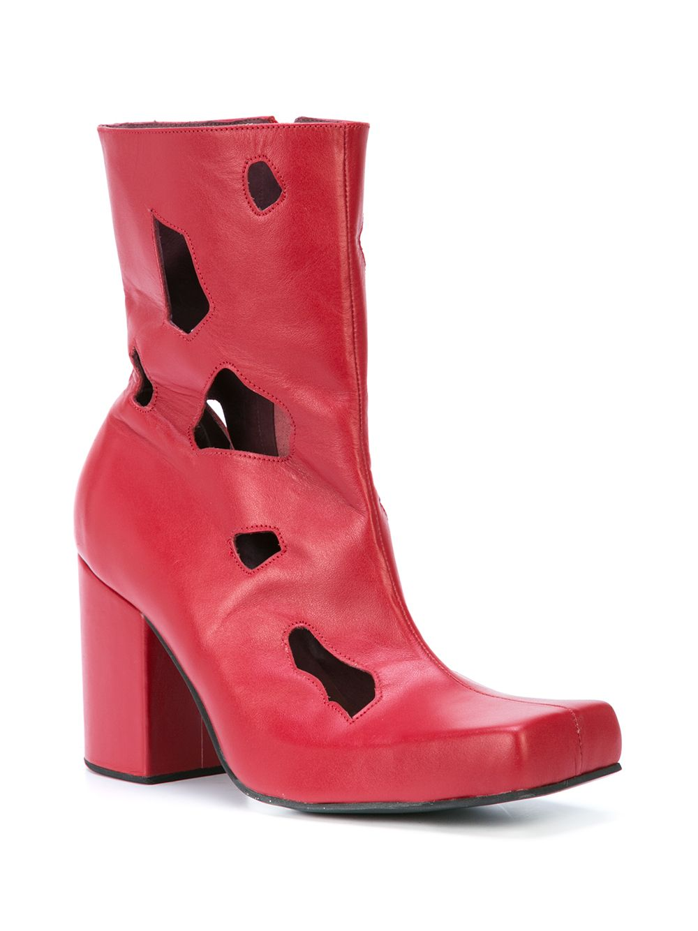 Charles Jeffrey Loverboy Red Holes Jasc Boots - 2